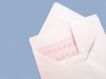 ECG, détail d'électrocardiogramme, dans l'enveloppe Photographie stock