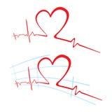 ECG del amor ilustración del vector