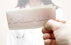 ECG des mains du patient Photos stock