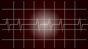 ECG, diagnóstico, pulsação, movimento, vídeo ilustração do vetor