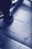 ECG diagnostics concept in monochrome Royalty Free Stock Image