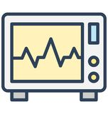 Ecg, ecg machine Isolated Vector Icon That can be easily edited in any size or modified. vector illustration
