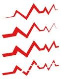ECG & x28 EKG& x29  ή γενικός κτυπήστε, γραμμές ρυθμού με το ύφος 4 γραμμών Στοκ εικόνα με δικαίωμα ελεύθερης χρήσης