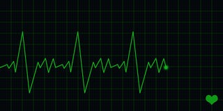 ECG Electrocardiogram. An ecg display to show heart beat or computer related information Royalty Free Stock Image
