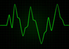 ECG Electrocardiogram.Abstract pulse image. That can be used as a medical or technical background Stock Photography