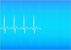 ECG Electrocardiogram,. ECG Electrocardiogram. Blue  illustration Stock Photos