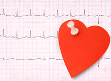 ECG, electrocardiogram detail, healthy heart concept etc with st Stock Images