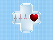 ECG Electrocardiogram. EPS 8 Royalty Free Stock Images