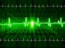 ECG Electrocardiography. Medical and healthcare background Stock Photography