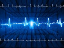ECG Electrocardiography. Medical and healthcare background Royalty Free Stock Photography