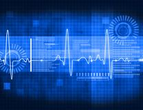 ECG Electrocardiography. Medical and healthcare background Royalty Free Stock Images