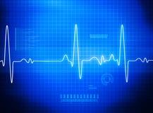 ECG Electrocardiography. Medical and healthcare background Stock Photos