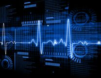 ECG Electrocardiography. Medical and healthcare background Royalty Free Stock Photo