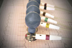 ECG electrodes Stock Photo