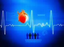 ECG-elektrokardiografi royaltyfri illustrationer
