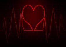 ECG elektrokardiogram Abstrakcjonistyczny pulsu wizerunek Zdjęcia Royalty Free
