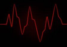 ECG elektrokardiogram Abstrakcjonistyczny pulsu wizerunek Zdjęcie Royalty Free