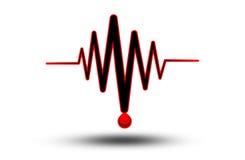 ECG eller EKG - medicinsk symbol Arkivbilder