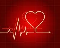 ECG en forma de corazón Foto de archivo libre de regalías