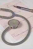 ECG en stethoscoop Stock Afbeelding
