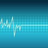Ecg graph on blue background. Vector illustartion Stock Photos