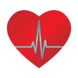 Ecg heart vector illustration