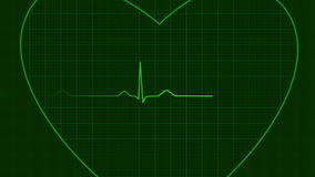 Ecg heart background loop Royalty Free Stock Photo