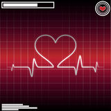 ECG heart beat Royalty Free Stock Photography