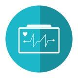 Ecg heart machine medical device shadow. Vector illustration eps 10 Royalty Free Stock Image