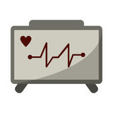 Ecg heart machine medical device Royalty Free Stock Photo