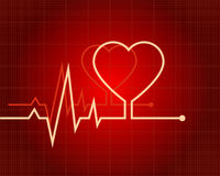 ECG heart-shaped Royalty Free Stock Photo