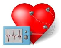 ECG-hjärtabildskärm Fotografering för Bildbyråer