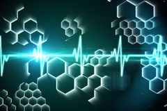 ECG line in black and blue. Digitally generated ECG line in black and blue Royalty Free Stock Image