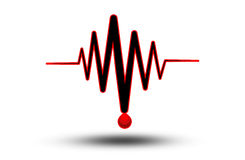 ECG lub EKG - medyczna ikona Obrazy Stock