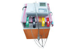 ECG machine isolated under the white background Royalty Free Stock Photos