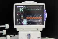 ECG monitor. In the hospital stock image