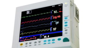 ECG monitor stock video
