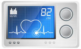 ECG Monitoring - Illustration Royalty Free Stock Photography