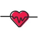 Ecg o ekg cardiio del latido del corazón Fotografía de archivo libre de regalías