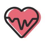 Ecg o ekg cardiio del latido del corazón Foto de archivo libre de regalías