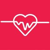 Ecg o ekg cardiio del latido del corazón Fotos de archivo
