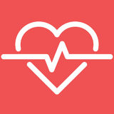 Ecg o ekg cardiio del latido del corazón Foto de archivo