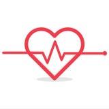 Ecg o ekg cardiio del latido del corazón Fotos de archivo libres de regalías