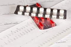 ECG och preventivpillerar Royaltyfri Foto