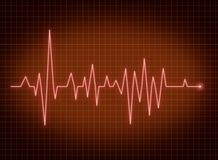 ECG pulse. Heartbeat red line Royalty Free Stock Photo
