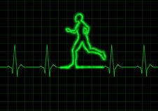 ECG Runner Royalty Free Stock Photography