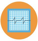 ecg screen, heartbeat screen Color Isolated Vector Icon that can be easily modified or edit stock illustration
