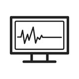 ECG Showing Death. Life, death, ecg icon vector image.Can also be used for funeral. Suitable for mobile apps, web apps and print media Royalty Free Stock Image