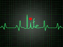 ECG showing life Royalty Free Stock Images