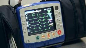 ECG-skärmskärm stock video